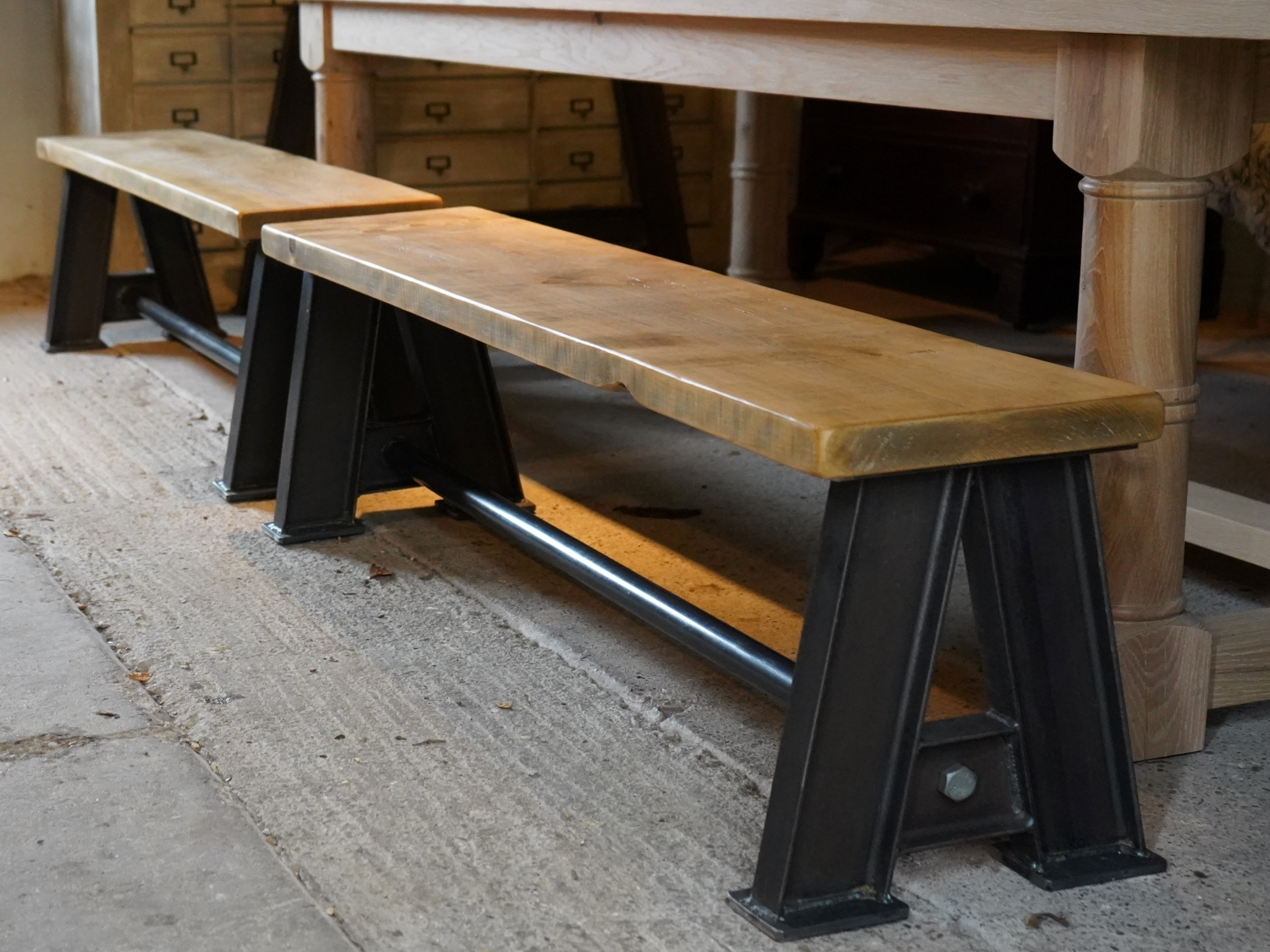 "Steel Girder ""A"" Frame Bench"