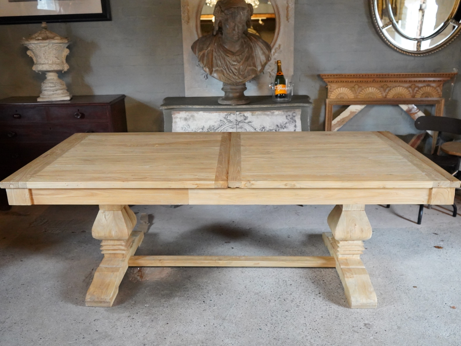Rustic Reclaimed Elm Extending Dining Table