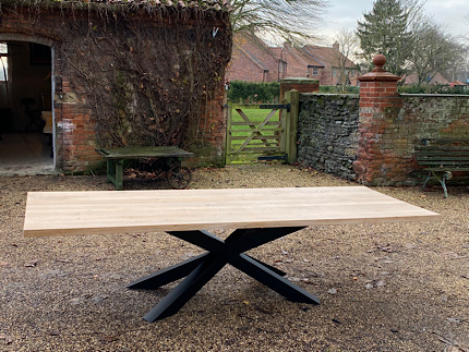 Solid Oak Multiple X-Frame Table