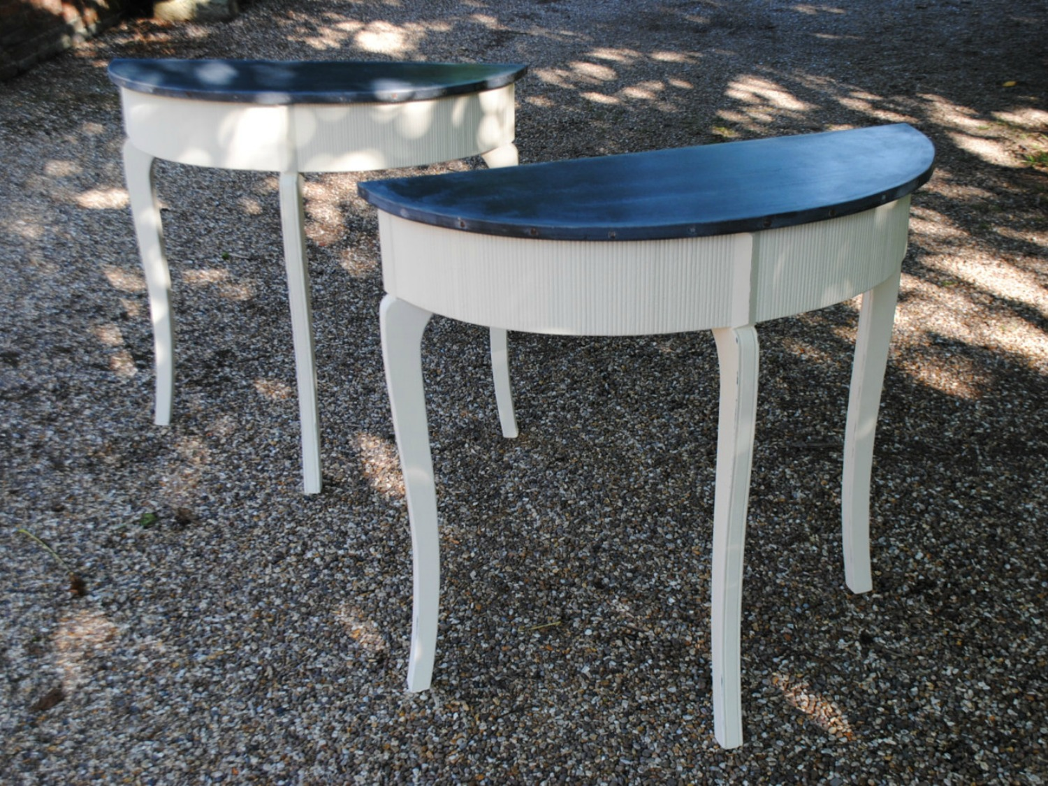 Zinc Top Side Table